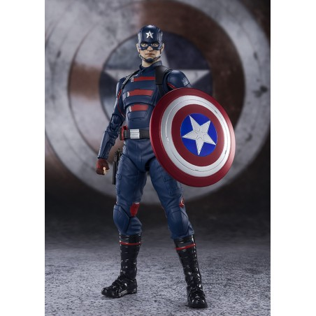 THE FALCON AND THE WINTER SOLDIER CAPTAIN AMERICA S.H. FIGUARTS ACTION FIGURE