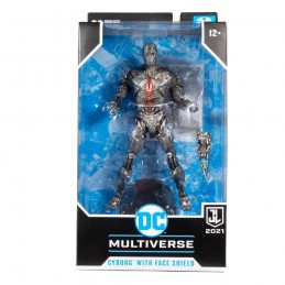 MC FARLANE DC JUSTICE LEAGUE MOVIE CYBORG WITH FACE SHIELD ACTION FIGURE