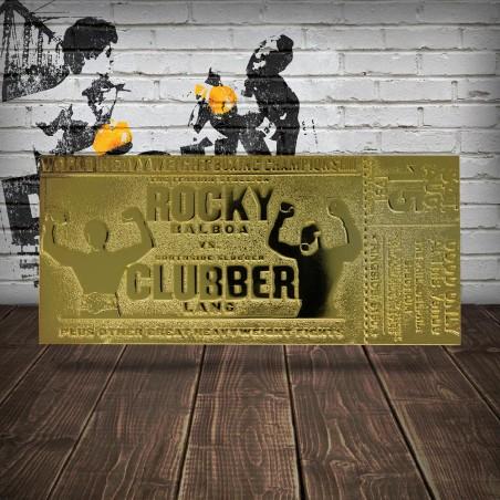 ROCKY III WORLD HEAVYWEIGHT BOXING CHAMPIONSHIP TICKET GOLD PLATED REPLICA 1/1