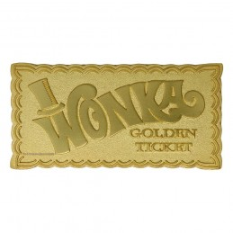 WILLY WONKA AND THE CHOCOLATE FACTORY MINI GOLDEN TICKET REPLICA FANATTIK