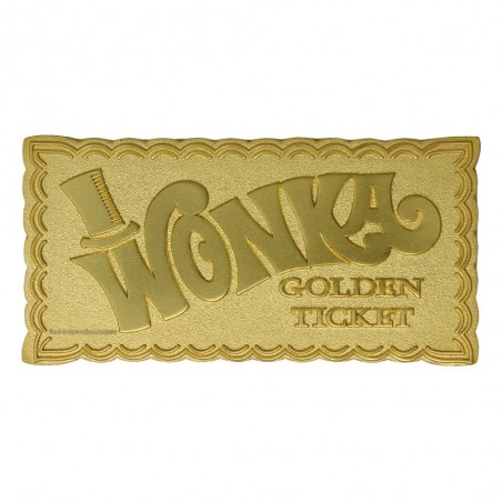WILLY WONKA AND THE CHOCOLATE FACTORY MINI GOLDEN TICKET REPLICA