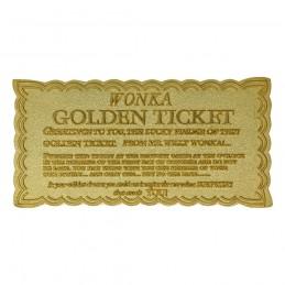 FANATTIK WILLY WONKA AND THE CHOCOLATE FACTORY MINI GOLDEN TICKET REPLICA