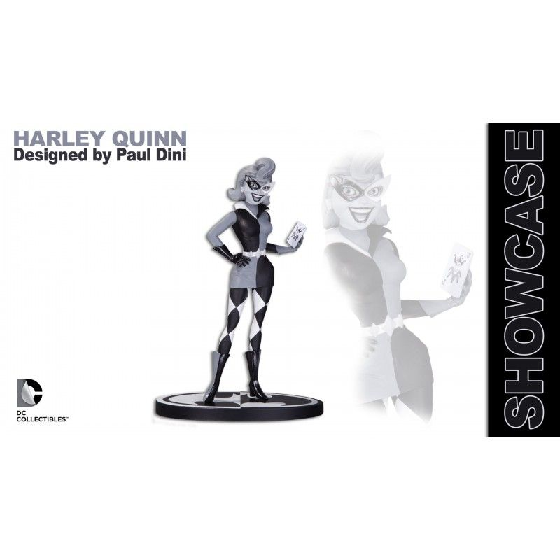 DC COLLECTIBLES BATMAN BLACK AND WHITE - HARLEY QUINN BY PAUL DINI STATUE