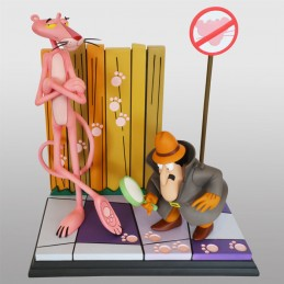 THE PINK PANTHER AND THE INSPECTOR 41CM STATUA FIGURE HOLLYWOOD COLLECTIBLES