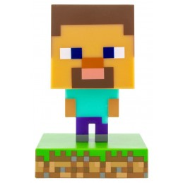 PALADONE PRODUCTS MINECRAFT 3D LAMP ICON STEVE LIGHT 10CM FIGURE