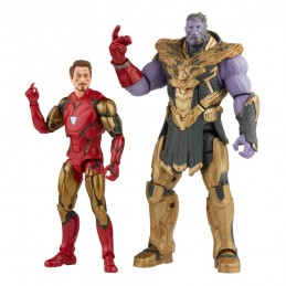 MARVEL LEGENDS THE INFINITY SAGA IRON MAN AND THANOS ACTION FIGURE HASBRO