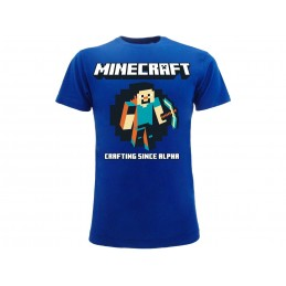 MAGLIA T SHIRT MINECRAFT CRAFTING SINCE ALPHA
