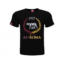 MAGLIA T SHIRT UFFICIALE AS ROMA WOLF BLACK
