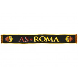 SCIARPA SCARF AS ROMA UFFICIALE JAQUARD NERA