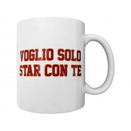 AS ROMA LOGO VOGLIO SOLO STAR CON TE MUG TAZZA CERAMICA