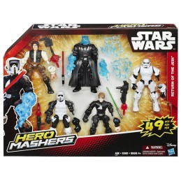 STAR WARS HERO MASHERS - RETURN OF THE JEDI SET ACTION FIGURES HASBRO