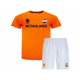 OFFICIAL SOCCER SHIRT AND SHORTS SET EURO 2020 NETHERLANDS