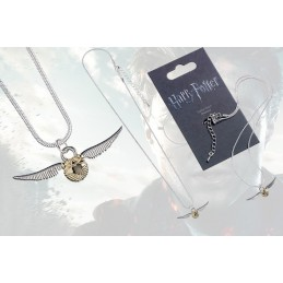 HARRY POTTER GOLDEN SNITCH NECKLACE CIONDOLO QUIDDITCH