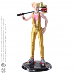 NOBLE COLLECTIONS BIRDS OF PREY HARLEY QUINN BENDYFIGS ACTION FIGURE