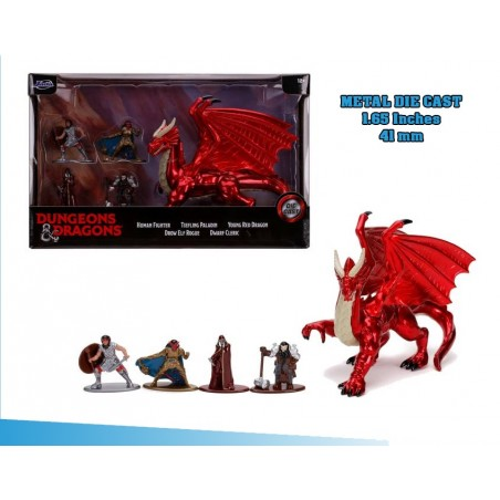 DUNGEONS & DRAGONS NANO CHARACTERS DIE CAST PACK 5 MINI FIGURES