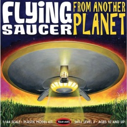 POLAR LIGHTS FLYING SAUCER FROM ANOTHER PLANET 1:144 MODEL KIT FIGURE