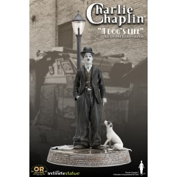 INFINITE STATUE CHARLIE CHAPLIN A DOG'S LIFE OLD AND RARE 1/6 RESIN STATUE FIGURE