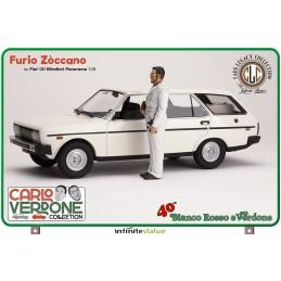INFINITE STATUE FURIO ZOCCANO ON FIAT 131 1/18 SCALE FIGURE REPLICA