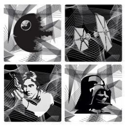 STAR WARS INTERGALACTIC DISHES SET 4 PIATTI UNDERGROUND TOYS