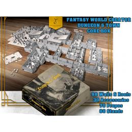 DM VAULT FANTASY WORLD CREATOR DU8NGEON AND TOWN 3D MODULAR SYSTEM SET