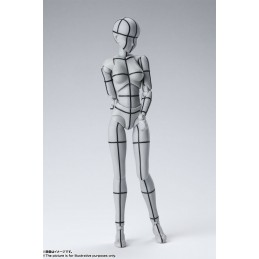 BANDAI BODY CHAN WIREFRAME GRAY FIGUARTS ACTION FIGURE
