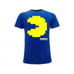 TSHIRT PAC-MAN PIXEL BLUE