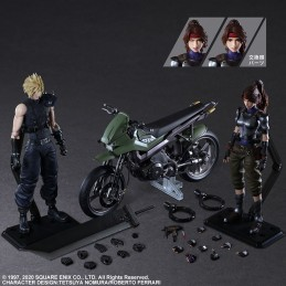 SQUARE ENIX FINAL FANTASY 7 REMAKE CLOUD JESSIE AND MOTORCYCLE PLAY ARTS KAI ACTION FIGURE