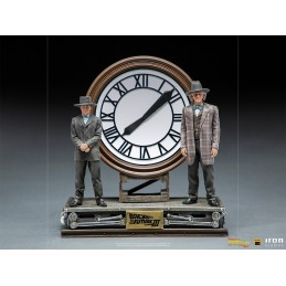 IRON STUDIOS BTTF BACK TO THE FUTURE 3 MARTY AND DOC AT THE CLOCK DELUXE ART SCALE 1/10 STATUE FIGURE