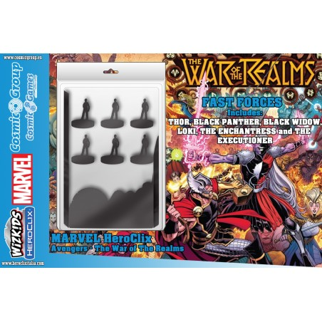 MARVEL HEROCLIX AVENGERS THE WAR OF THE REALMS FAST FORCES