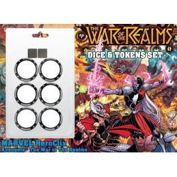 WIZKIDS MARVEL HEROCLIX AVENGERS THE WAR OF THE REALMS DICE AND TOKENS SET