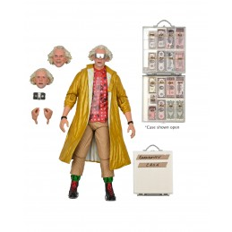 NECA BACK TO THE FUTURE 2 ULTIMATE DOC BROWN ACTION FIGURE