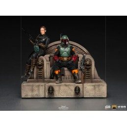 IRON STUDIOS THE MANDALORIAN BOBA FETT AND FENNEC ON THRONE DELUXE BDS ART SCALE 1/10 STATUE FIGURE