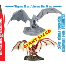 GF9-BATTLEFRONT DUNGEONS AND DRAGONS ADULT RED DRAGON COLLECTOR'S SERIES FIGURE