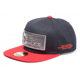 DIFUZED BASEBALL CAP NES CONTROLLER METAL PLATE