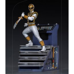 POWER RANGERS - WHITE RANGER BDS ART SCALE 1/10 STATUA FIGURE IRON STUDIOS