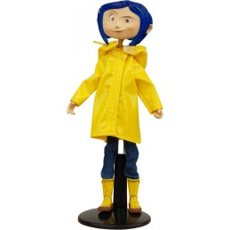 CORALINE BENDY DOLL RAINCOATS AND BOOTS ACTION FIGURE NECA