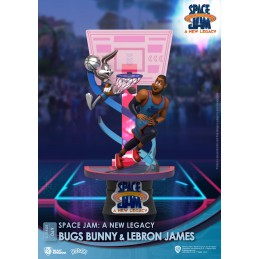 BEAST KINGDOM D-STAGE SPACE JAM 2 A NEW LEGACY BUGS BUNNY AND LEBRON JAMES STATUE FIGURE DIORAMA