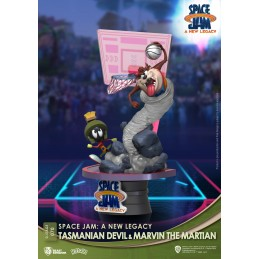 BEAST KINGDOM D-STAGE SPACE JAM 2 A NEW LEGACY TAZ AND MARVIN STATUE FIGURE DIORAMA