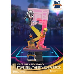 BEAST KINGDOM D-STAGE SPACE JAM 2 A NEW LEGACY SYLVESTER TWEETY AND DAFFY DUCK STATUE FIGURE DIORAMA