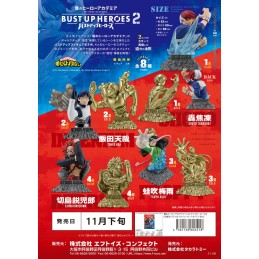 MY HERO ACADEMIA BUST UP HEROES 2 SET DI 8 BUSTI FIGURE F-TOYS CONFECT