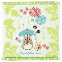 TOTORO IN THE RAIN STUDIO GHIBLI MINI TOWEL ASCIUGAMANO 25X25CM STUDIO GHIBLI