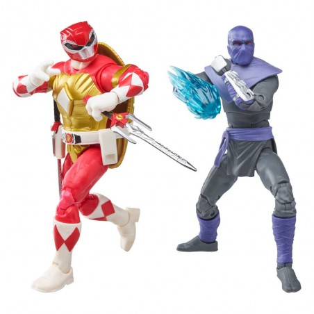 POWER RANGERS X TMNT FOOT SOLDIER TOMMY AND MORPHED RAPHAEL ACTION FIGURE