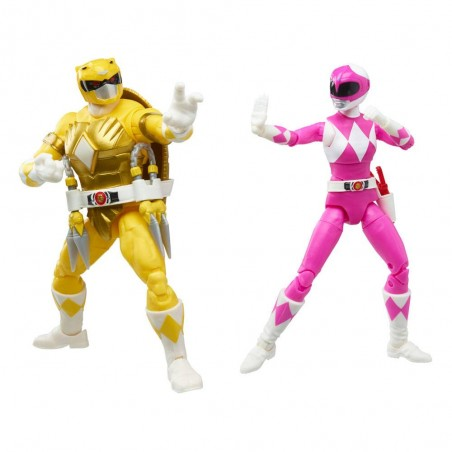POWER RANGERS X TMNT MORPHED APRIL O'NEIL AND MORPHED MICHELANGELO ACTION FIGURE