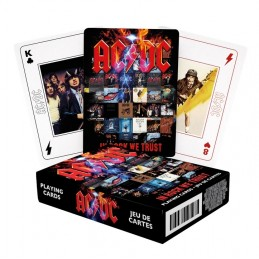 AC DC IN ROCK WE TRUST POKER PLAYING CARDS MAZZO CARTE DA GIOCO AQUARIUS ENT