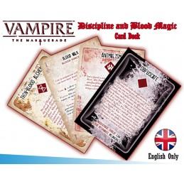 VAMPIRE THE MASQUERADE DISCIPLINE AND BLOOD MAGIC CARD DECK MODIPHIUS ENTERTAINMENT