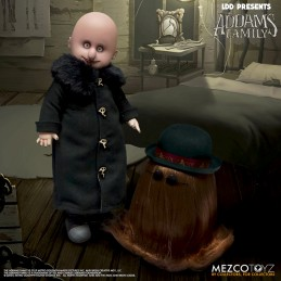 MEZCO TOYS LIVING DEAD DOLLS LDD THE ADDAMS FAMILY FESTER AND IT ACTION FIGURE