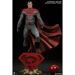 DC COMICS - SUPERMAN RED SON PREMIUM FORMAT STATUE 60CM FIGURE SIDESHOW COLLECTIBLES