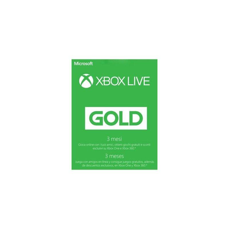 MICROSOFT XBOX LIVE GOLD ABBONAMENTO 3 MESI DIGITAL DELIVERY