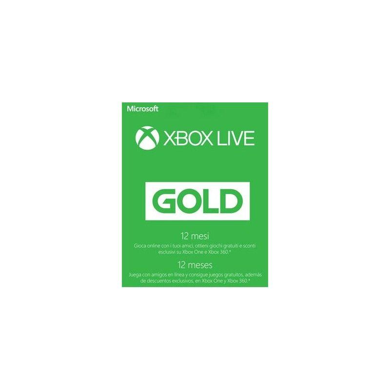 MICROSOFT XBOX LIVE GOLD ABBONAMENTO 12 MESI DIGITAL DELIVERY