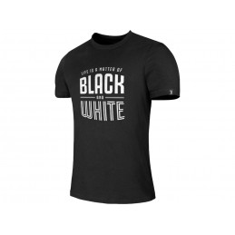 MAGLIA T SHIRT UFFICIALE JUVENTUS FC LIFE IS A MATTER OF BLACK AND WHITE